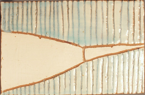 Thomas Hirschler - Platte aus Porzellan 1995/96