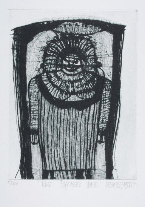 Sabert - Radierung Eine ägyptische Mumie 1991/92