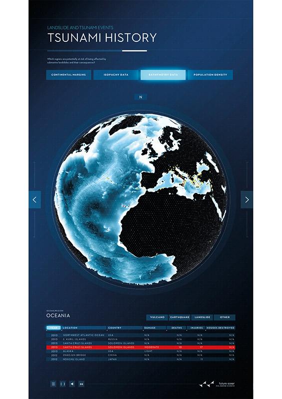 """Das interaktive Poster entstand als gemeinsames Projekt im Exzellenzcluster """"Ozean der Zukunft"""" und im Rahmen des neuen Forschungsschwerpunkts »Wissenschaftsvisualisierung« an der Muthesius Kunsthochschule."""