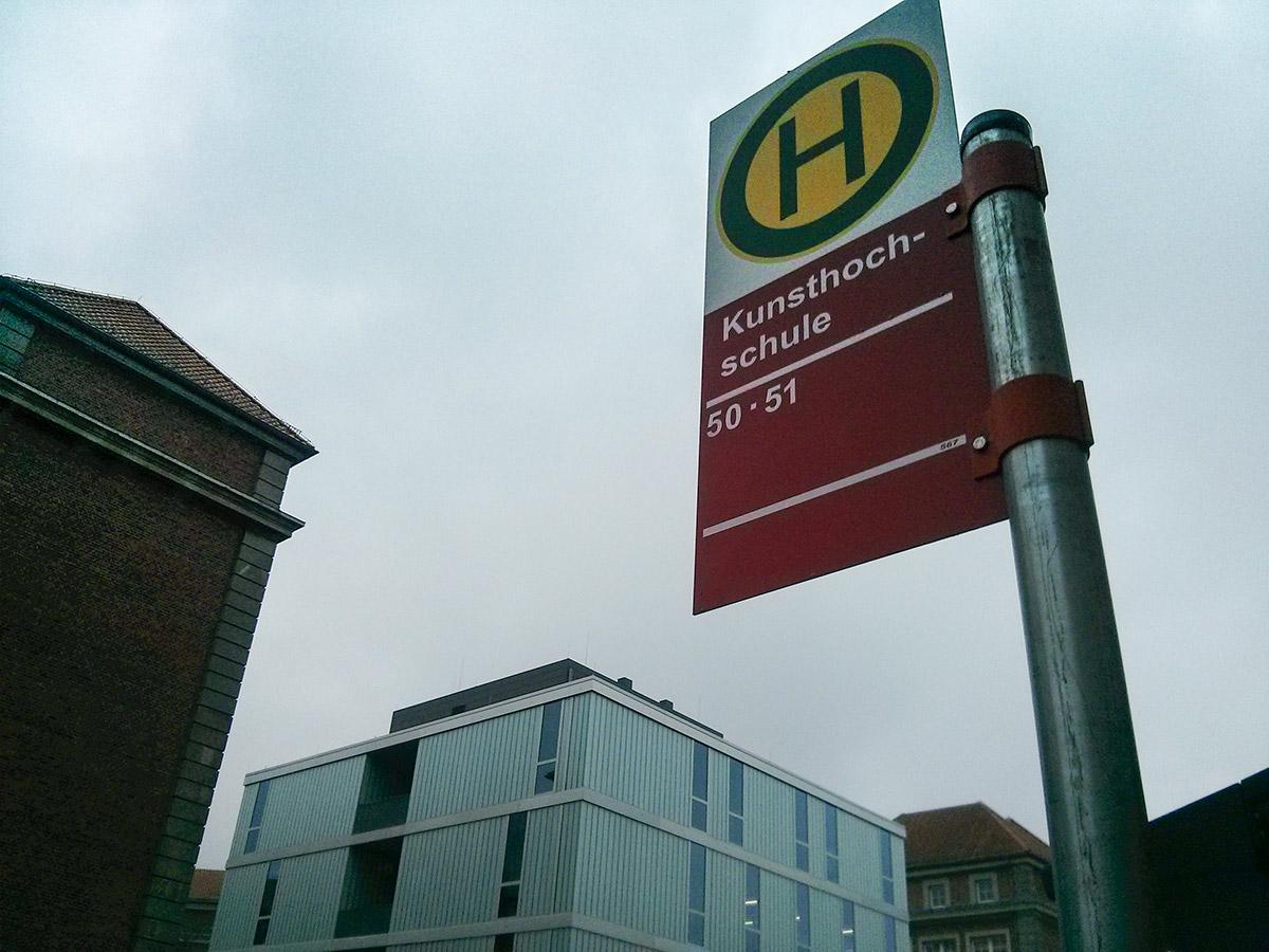 Bushaltestelle Kunsthochschule