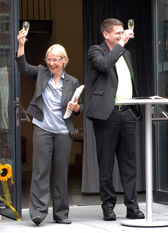 Einblick Ausblick wird eröffnet durch die Ministerin Kristin Alheit und dem Präsidenten Dr. Arne Zerbst