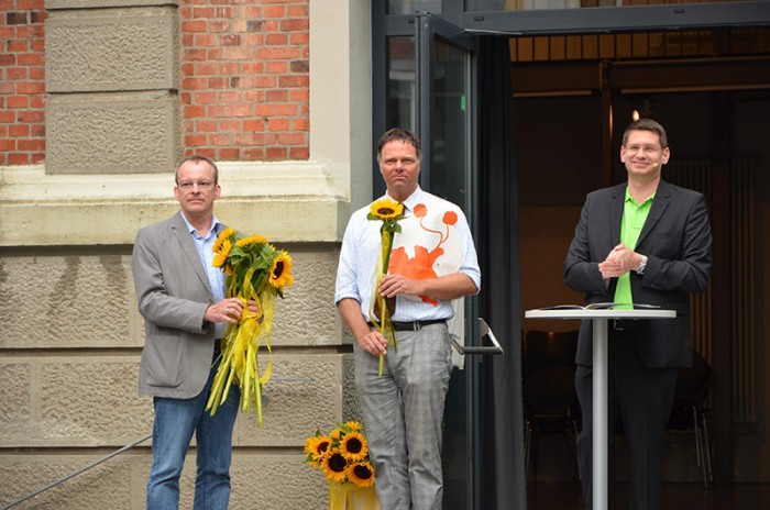 Vizepräsident Michale Breda, Kanzler Dirk Mirow, Präsident Dr. Arne Zerbst