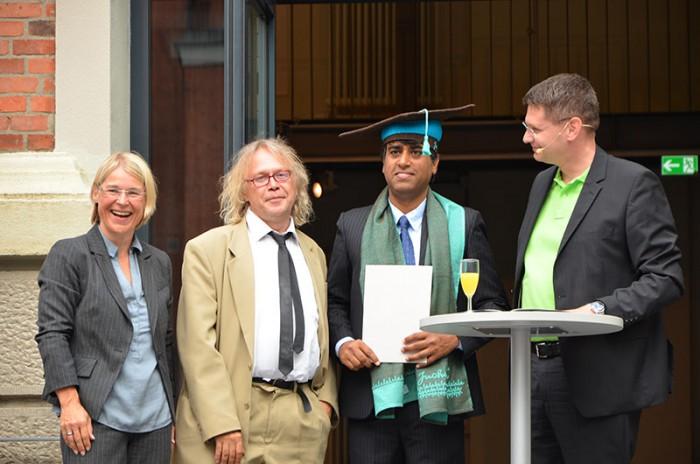 Ministerin Kristin Alheit, Prof. Dr. Norbert Schmitz, Dr. des. Muhammad Asghar, Dr. Arne Zerbst