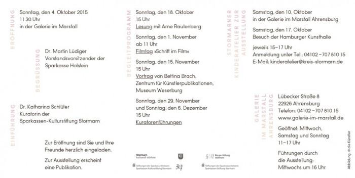 Programm der Ausstellungseröffnung im Marstall