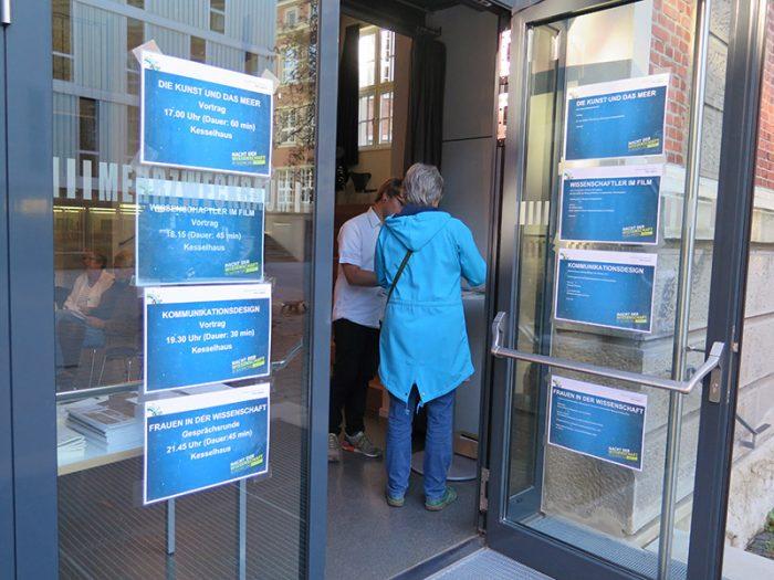 Übersicht der Vorträge: Eingang des Kesselhauses