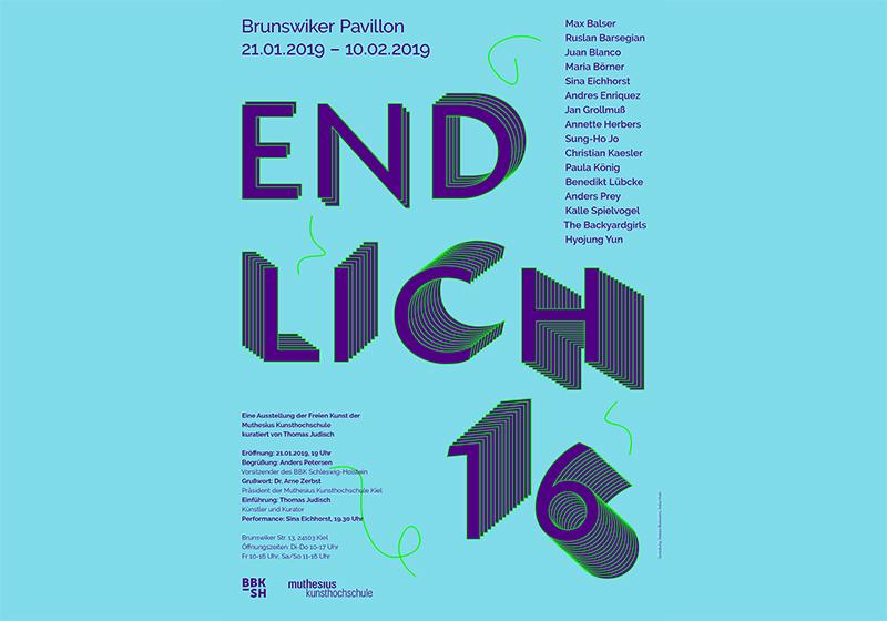 """Ausstellung """"Endlich 16"""" Student*innen der Muthesius Kunsthochschule, Kiel"""