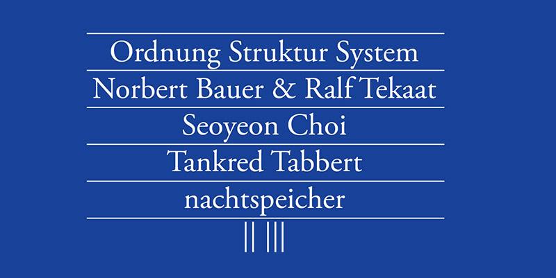 Ordnung, Struktur, System