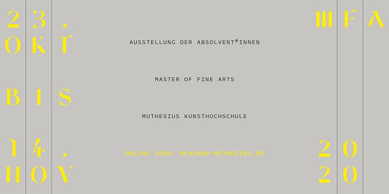 Master-Ausstellung der Freien Kunst