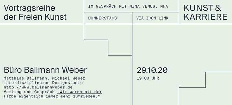 Kunst und Karriere: Büro Ballmann Weber