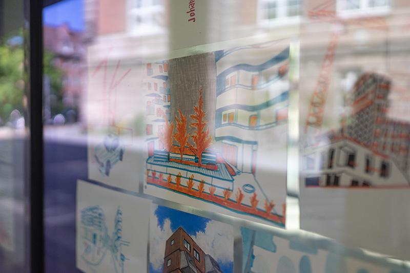 Zeichenzirkel Fensterausstellung